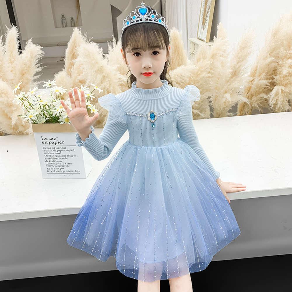 Vestidos de Meninas Físicas de Shooting Snow Wonderland 20 Tricô Princs Saia Aisha Queen Outono e Inverno Drs