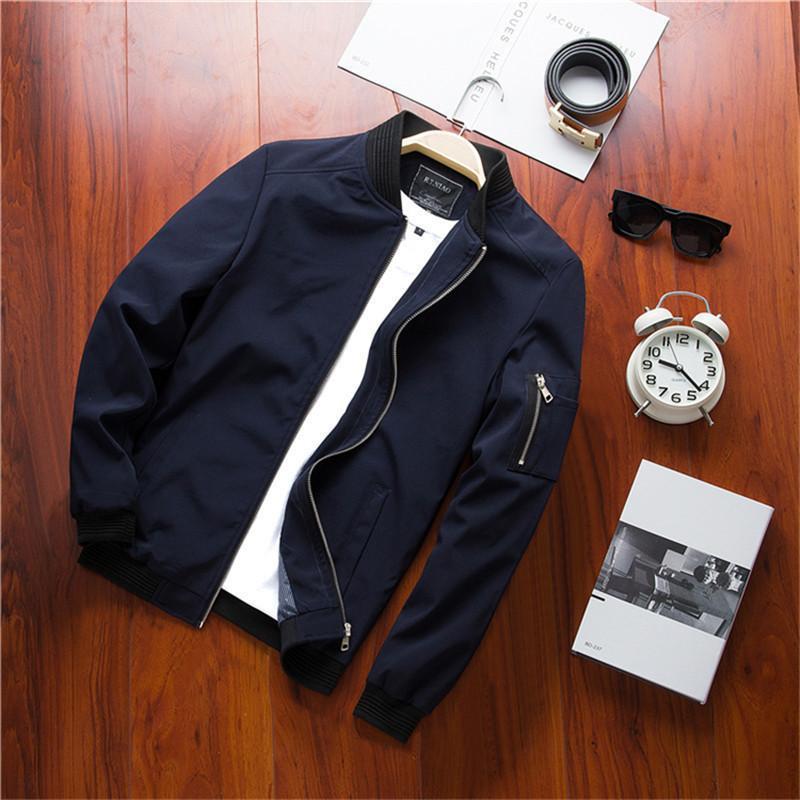 Jaquetas masculinas Gibson Primavera Bomber Zipper Jacket Casual Street Hip-Hop Slim Piloto Plus Size 4XL, TA214