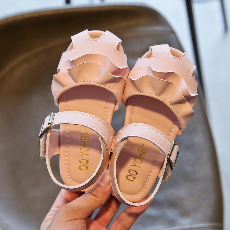 2021 Tiger Monitor Estate Nuova Scarpe per bambini Scarpe per bambini Stile coreano Ragazza Chiusa Pinte Sandali Principessa Sandali Studente Studente Fiore Scarpe per bambini