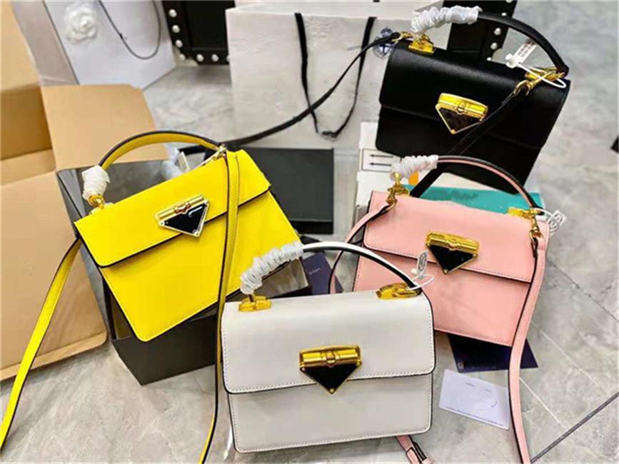 Bolsos de diseñador de moda 2021 Ladies Caja de calidad de lujo Bolso Bolso Hombro Hombro Symble Series Estilo Material de piel pura elegante Cinco colores Ocio opcional