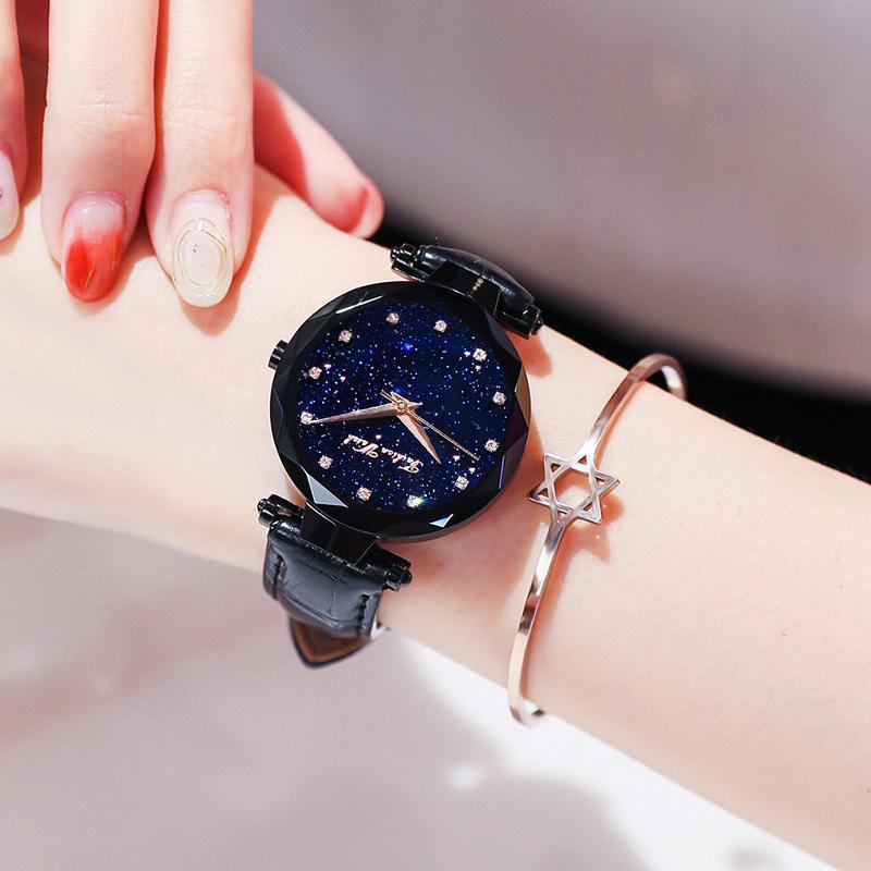 Wristwatches WISHDOIT Star Sky Female Clock Creative Fashion Luxury Quartz Waterproof Ladies Watches Relogio Feminino