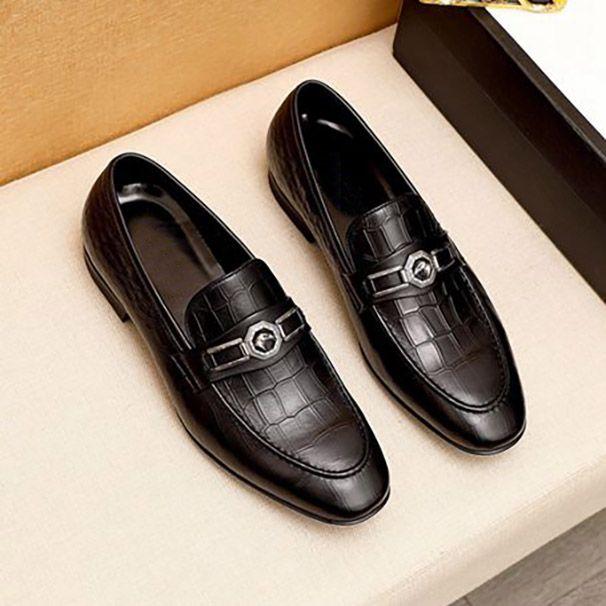 Mens Business Classical Dress Shoes Classic Paris Handsome Real Cuero Soles Casual Zapato Casual Moda y ocio Italia Estilos Top Calidad
