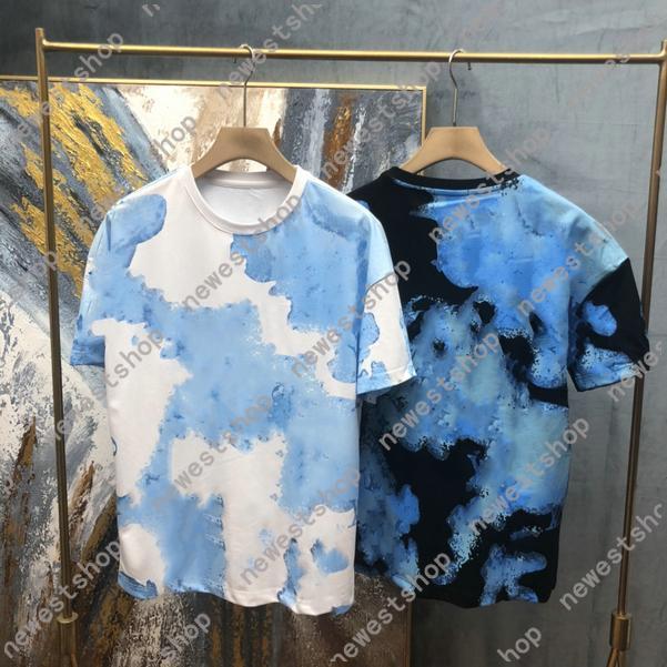2021 Moda diseñadora para hombre tshirts Ropa de verano Carta Cielo Impresión Tshirt Casual Algodón Tee Top Mujer T Shirt