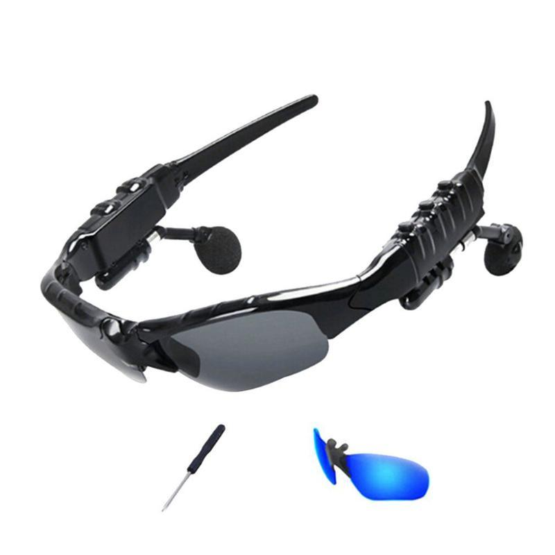 Óculos Wireless Headset 5.0 Earplugs In-Aure Estéreo Escutando óculos de sol Esportes polarizados