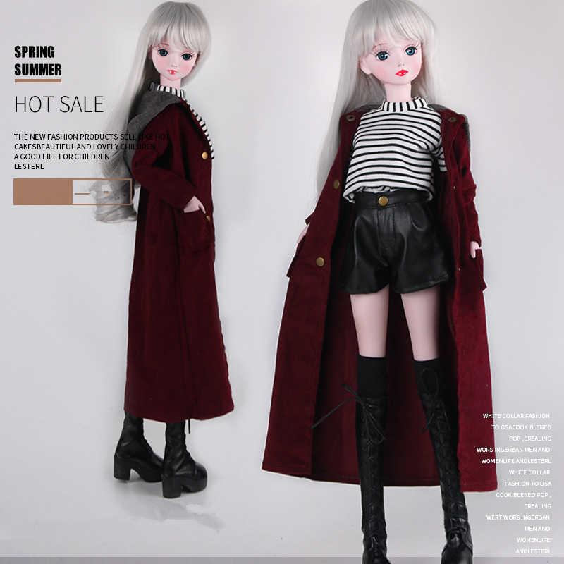 Fashion est 1/3 Bjd Doll Dress Casual Handmade Clothes Outfits Suit for 60cm Doll Accessories Toys for Children 210714