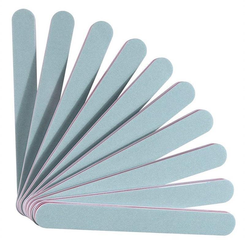 10 pçs / saco profissional durável esponja buffer cinza lixar arquivos para manicure acessórios de arte gel polonês conjunto na036
