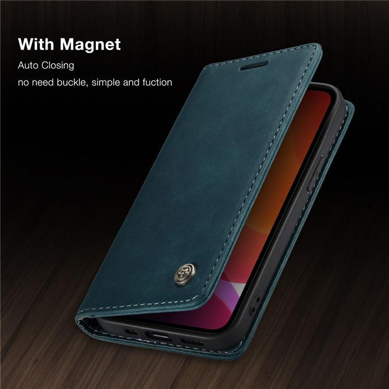 CaseMe Original Retro Magnetic Card Wallet Phone Cases iPhone 12 Mini 11 Pro XS Max X XR 7 8 6 6S Plus SE