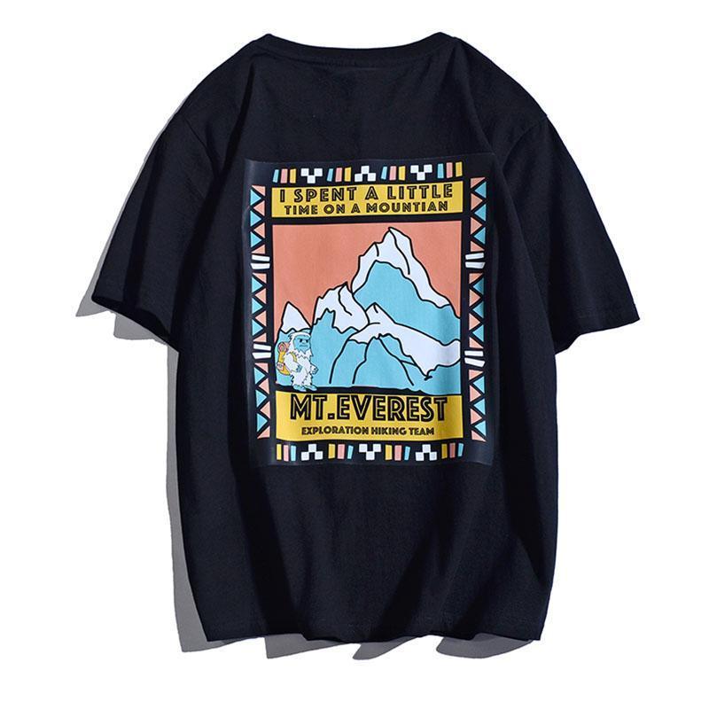 Женская футболка футболки негабаритная уличная одежда хип-хоп принт Harajuku 2021 летний с коротким рукавом хлопок Kawaii вскользь y2k топы тройки одежда