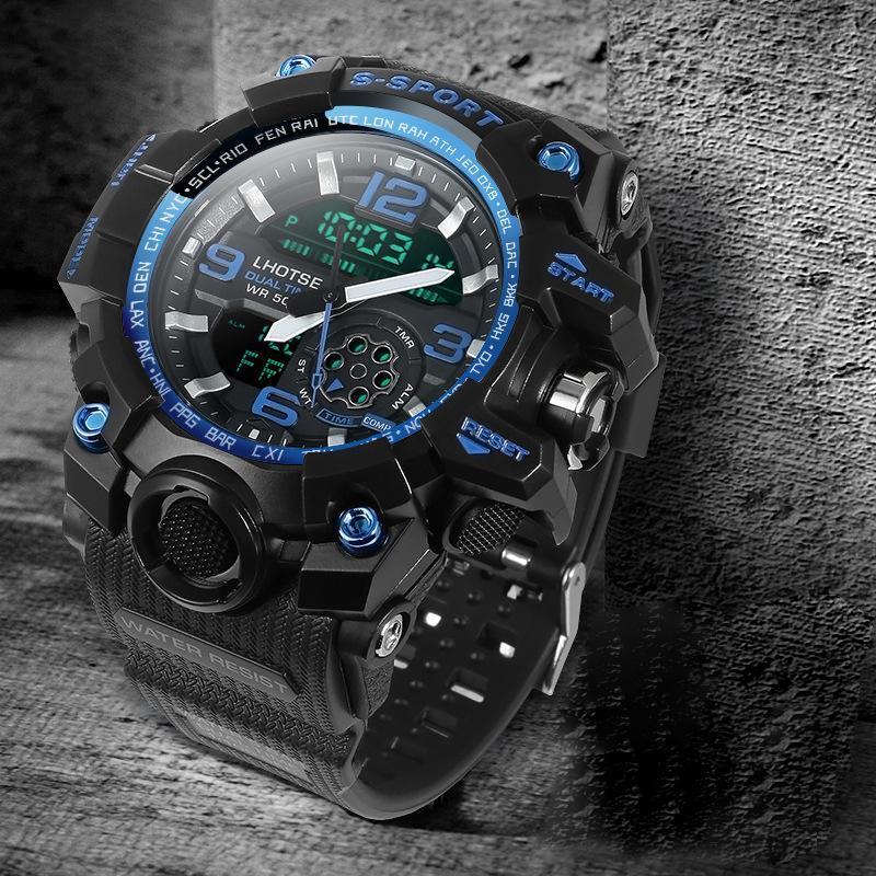 Erkek Spor Elektronik Bilek Saatler S Dijital İzle Erkek Kronometre Duvar Saati Tarih Günü Ile Darbeye Darbeye Gshock Watch-Men Saatı