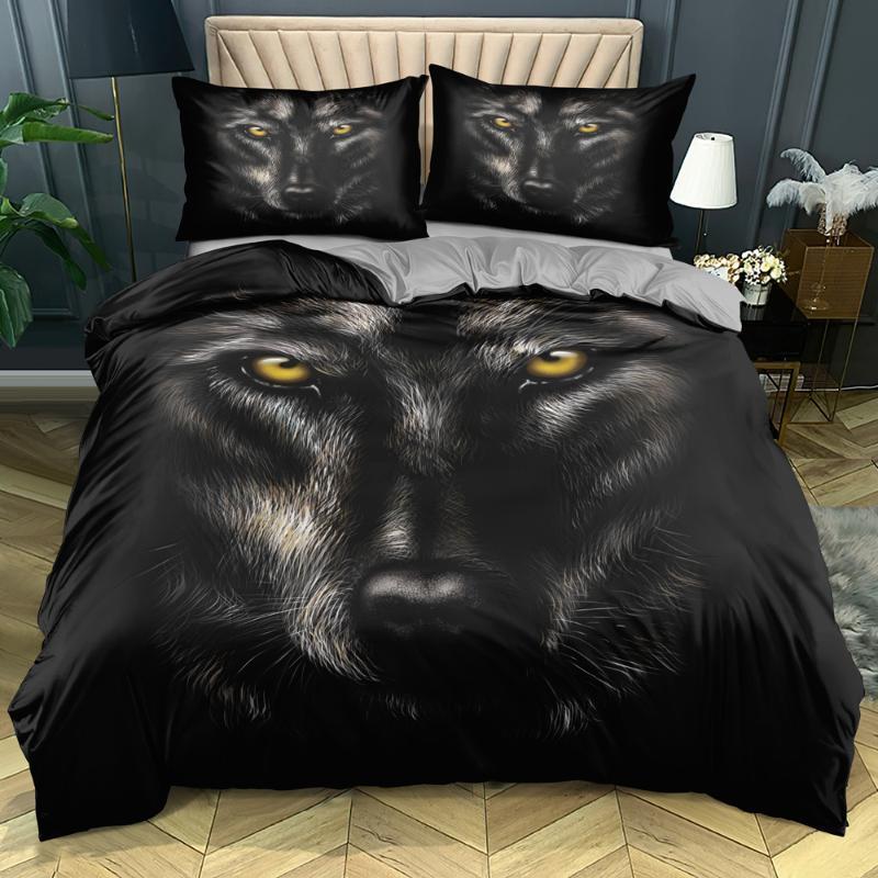 Bedding Sets 3D Custom-make Animals Comforter Case Wolves Design Twin Double Single Size Home Textile