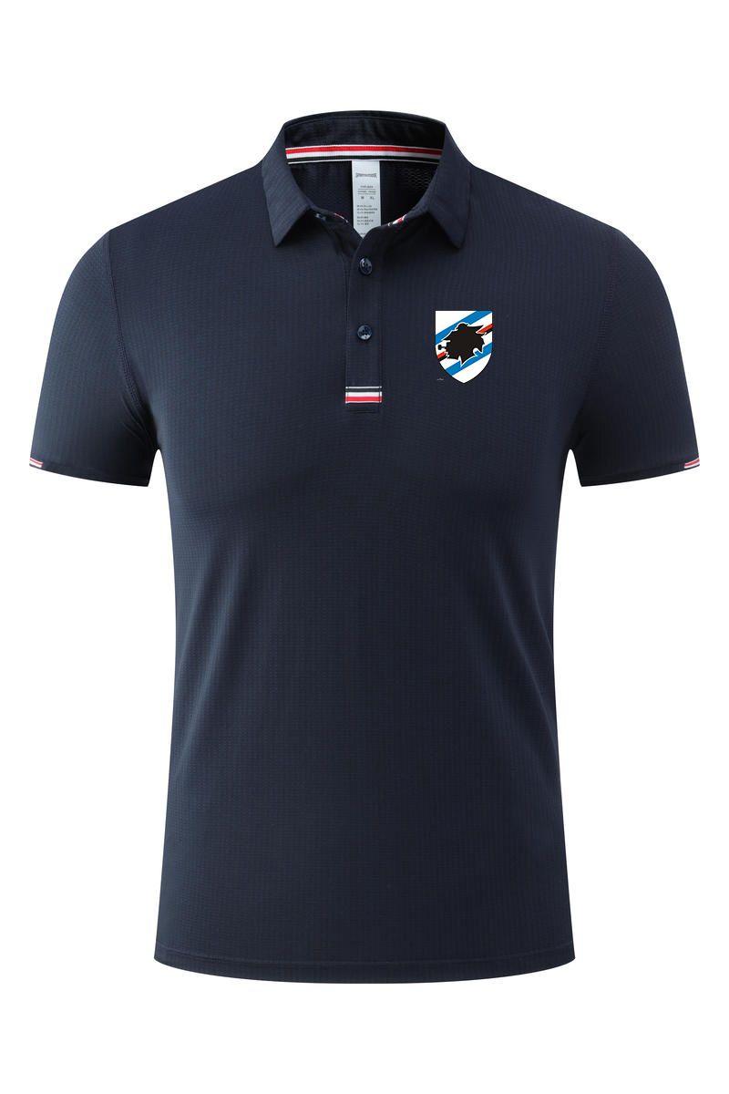 Sampdoria الرجال بولو الصيف تصميم الأزياء الناعمة مريحة سريعة جافة الكبار لكرة القدم تي شيرت ملابس قصيرة الرياضة