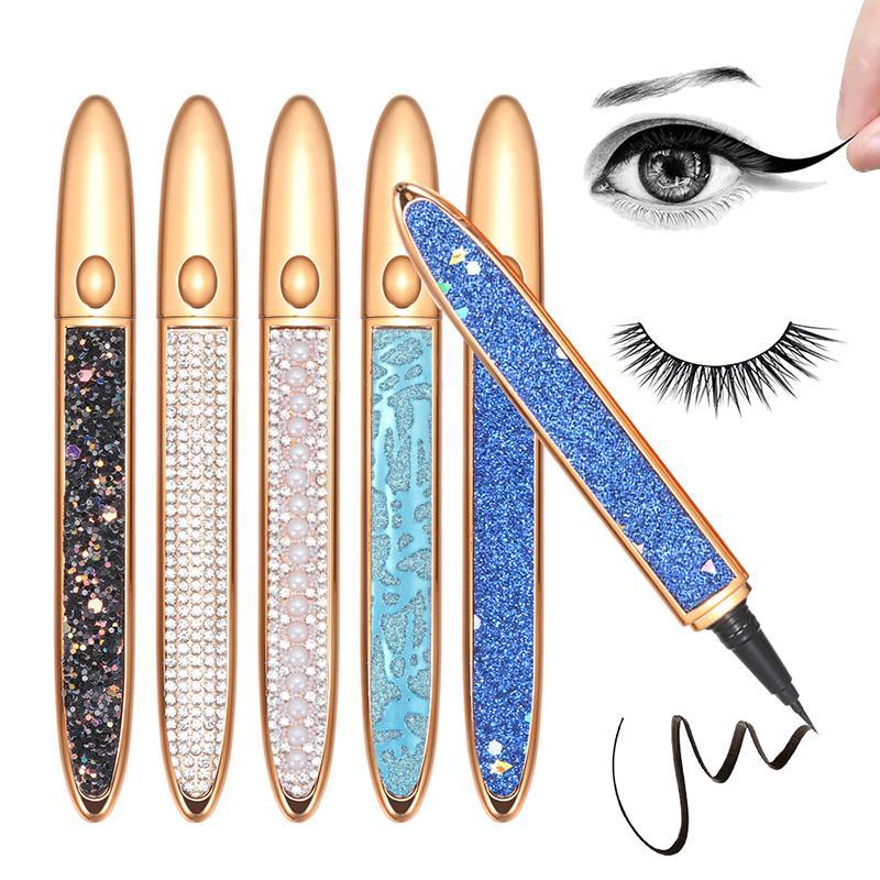 Kendinden yapışkanlı eyeliner kalem tutkalsız manyetik-ücretsiz Yanlış kirpikler için su geçirmez Hiçbir çiçek göz kalemi kalem