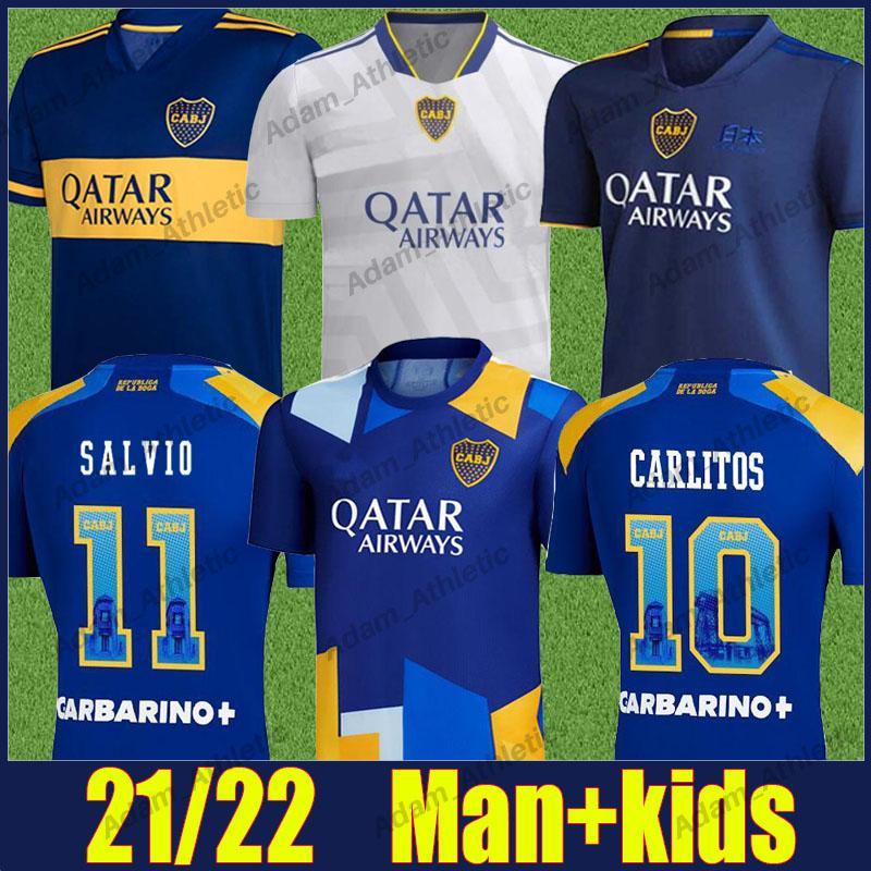 Camiseta Do Boca Juniors Futbol Formaları 2021 2022 Cristian Pavon Tevez Carlitos Maradona Futbol Forması De Rossi Almendra Salvio Abila Üniforma Cabj Kids Kiti 21/22