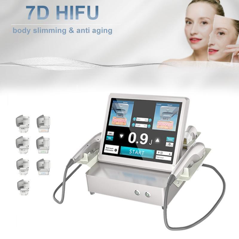 7D هيفو تشكيل الموجات فوق الصوتية الوجه العناية بالبشرة تجاعيد إزالة الوجه رفع الجسم ضئيلة كثافة تركيز معدات التجميل
