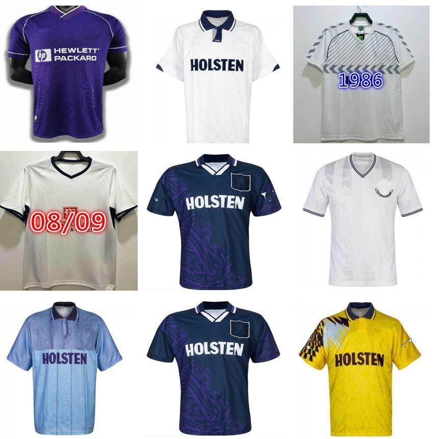 1991 1993 Gascoigne Retro Jersey 1992 1994 1995 Mabbutt Ruddock Sheringham Lineker Klinsmann Barmby Vintage Clássico Futebol Camisa
