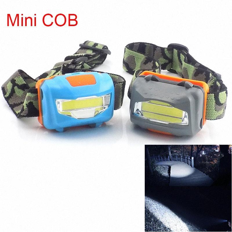 미니 COB LED 정면 헤드 램프 강력한 헤드 라이트 배터리 슈퍼 밝은 낚시 캠핑 헤드 라이트 토치 램프 레드 라이트 헤드 램프 최고의 사냥 헤드 램프 48pz #