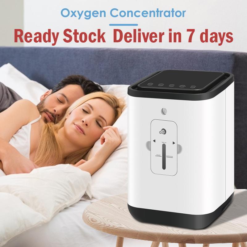Générateur d'oxygène portable 1-7L AC110-220V Concentrateur AC110-220V Réglable Purificateurs à écran tactile à faible bruit