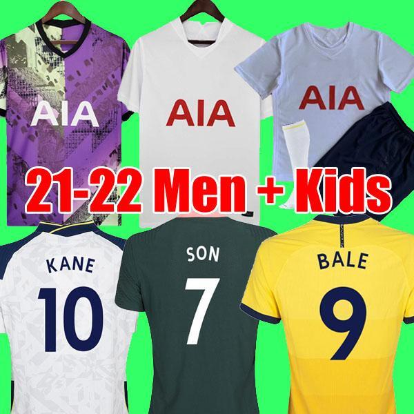 Tottenham Hotspur 21 22 KANE SON BALE BERGWIJN DELE Futbol Formaları 2021 2022 LUCAS DELE Futbol forması gömlek BALE NDOMBELE çorap ile çocuklar setleri üniforma