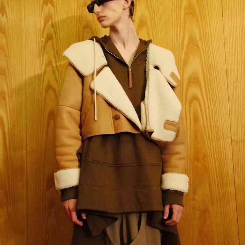 Capa de cuero para mujer Natural piel de oveja de doble cara y ropa de lana Ovejas merinas de invierno Cálido grueso de piel real