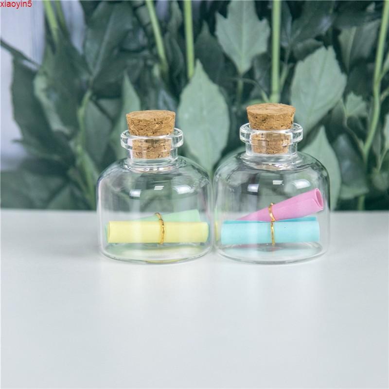 37x40x12.5mm 20ml Маленькие милые стеклянные баночки контейнеры флаконы пустые прозрачные 20CC бутылки с пробкой 12pcshigh quate