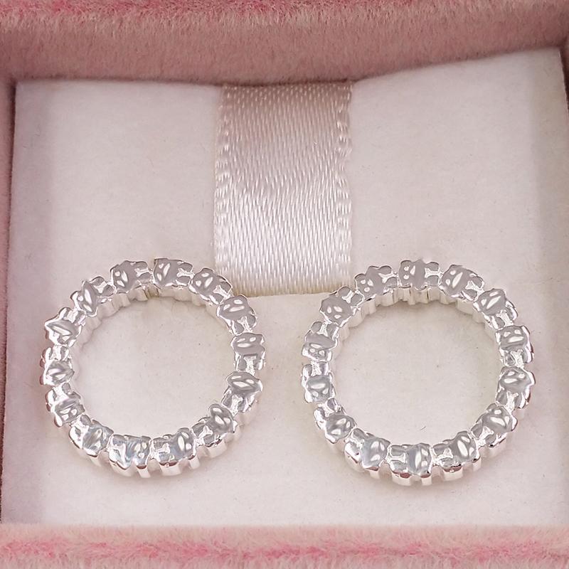 Bear Jewelry 925 orecchini in argento sterling in argento medio argento a disco dritto adatti regalo europeo di gioielli regalo 912723590