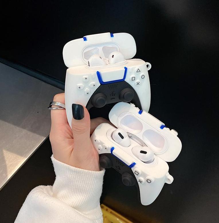 브랜드 PS5 게임 콘솔 핸들 3D 케이스 AirPods 1 2 Pro 충전 상자 소프트 실리콘 무선 블루투스 이어폰 보호 커버