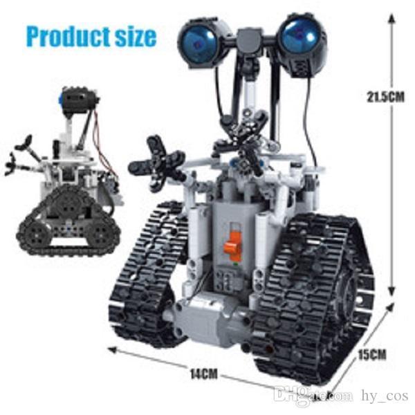 408pcs Ciudad Ciudad Creative RC Robots Bloque eléctrico Bloque Técnico Técnico Control remoto Robot Inteligente Ladrillos de juguete para niños