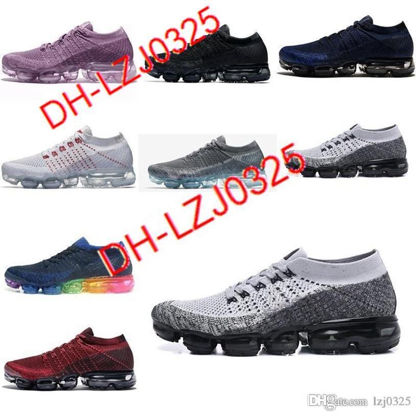 Botas al por mayor zapatillas de deporte zapatillas 2018s plyknit para hombre entrenadores verdes zapatos de tenis zapatos de tenis size 36-45 DH-X85