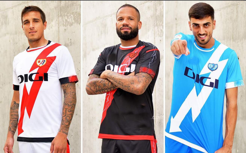 Rayo Vallecano 21 22 футбол для футбольных изделий домой выезд ISI Bebe Qassi Alvaro Andrés Франс Гарсия Санты Исход CamiSetas de Fútbol Футбольные рубашки 2021 2022 Третья синяя форма