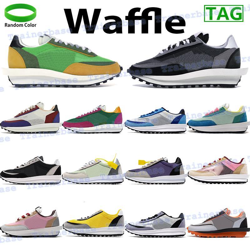 Waffle الرجال النساء الاحذية LD XSACAI المدربين الرياضية الصنوبر الأخضر الأصفر متعدد القمة الأبيض الأسود النايلون رجل أحذية رياضية مع علامة