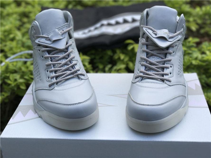 Special Edition Jumpman 5s Pure Platinum Männer Basketball Designer Schuhe Top Material Off Union 5 Echtes Leder Sport Outdoor Sneaker Kommen Sie mit Box