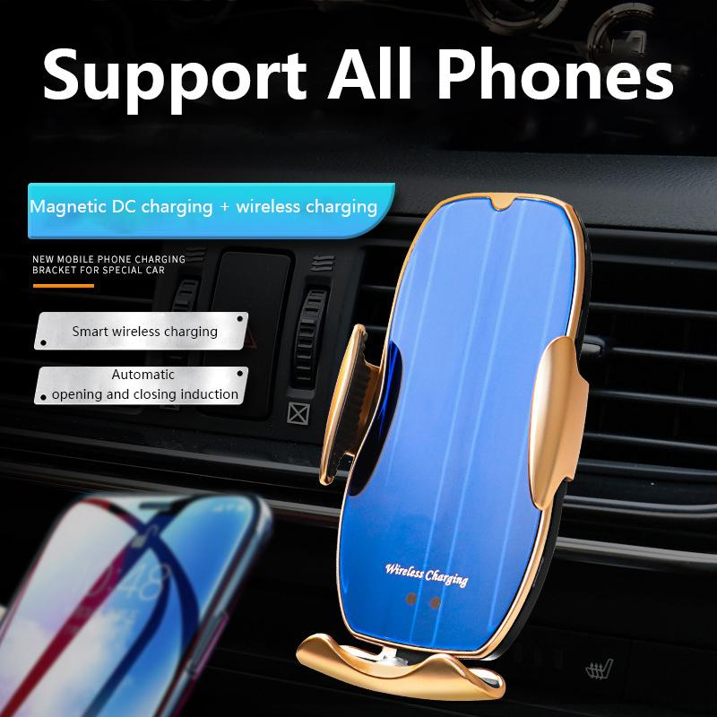 원래 15W 자동차 무선 충전기 휴대 전화 스탠드 다기능 자동차 전화 홀더 지능형 적외선 센서 자동 아이폰 11 x 최대