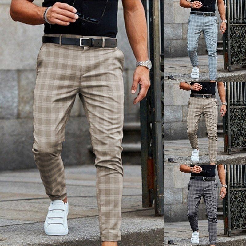 Pantalon Slim Streetwear Streetwear Elastic Taille Élastique Jogging Joggers Hommes HIP Hop Broek Broek Plus Taille