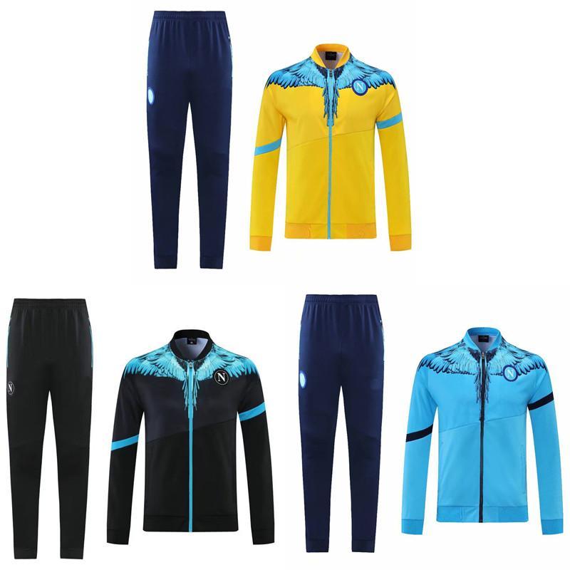 Top 2021 Napoli Fußballjacke Insignente Milik Trainingsanzug 20 21 H.Lozano Chandal 2020 Neapel Mertens Fussball Trikots Trainingsanzüge Sports tragen