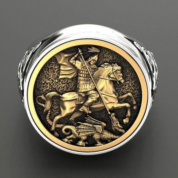 Ring Nordic Cloud-Brokat-Mythologie-Stil für Herren Dominal Right Sier Plated Geschenk