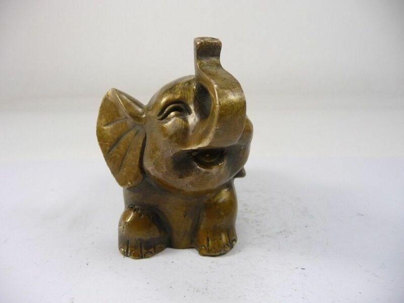 سوبر الصين القديم اليدوى النحاس الفيل تمثال