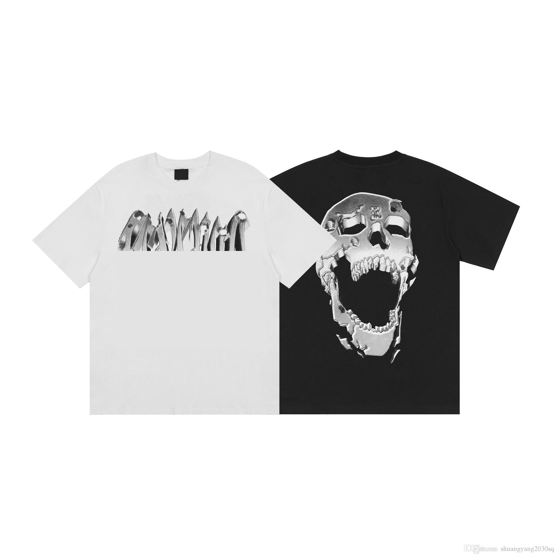 Designer da uomo T-shirt e donna Skull Pattern Fashion Brand Brand Street manica corta Top Tees Men Summer Clothe EUR Size S-XL
