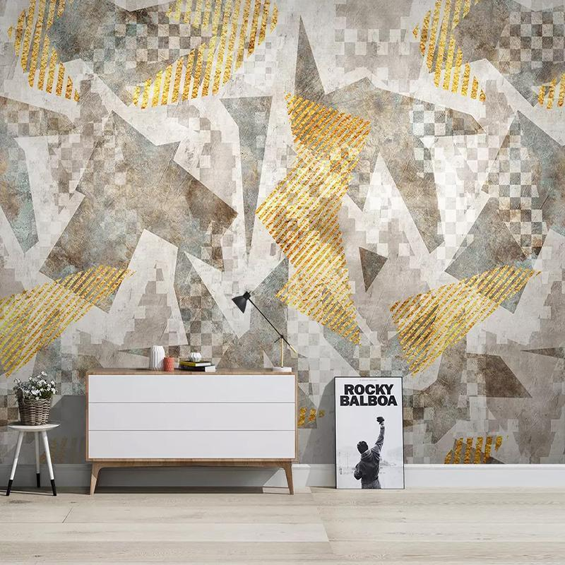 Custom 3D Photo Wallpaper Nordic Abstract Geometric Art Wall Painting Living Room Bedroom Sofa TV Background Wall Decor Mural