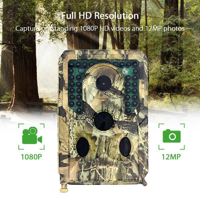 MMS SMS 전자 메일 트레일 카메라 무선 야생 동물 야생 사냥 카메라 셀룰러 모바일 HC900LTE 12MP 1080P 야간 투시경
