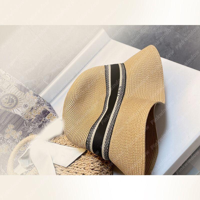 Fashion Beach Sun Hat Bucket Cappelli Estate Donne RAFIA Mens Luxurys Designer Cappelli Cappelli Cap Cap Mens Bonnet Beach-Cappello Sombrero Firmati 2104141L