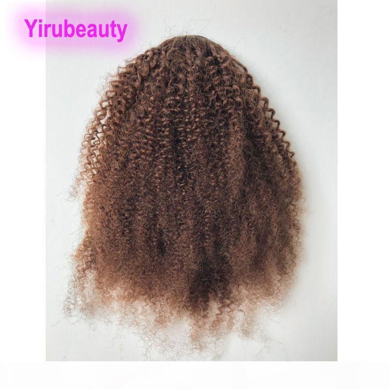 Yirubeauty Malasia 4 # Color Afro Kinky Rizado 10-20inch Ponytail Extensiones de cabello PonyTails Afro Kinky Curly Four Color Venta al por mayor