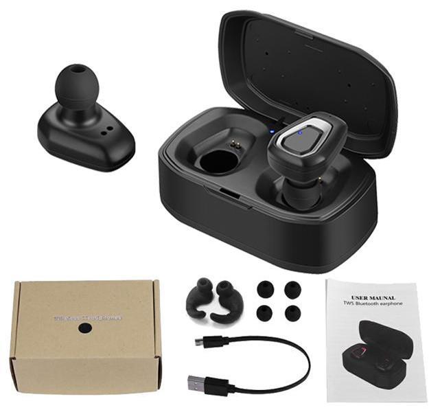 A7 TWS Mini Wireless Bluetooth Kopfhörer Zwillinge Stereo Headset Freisprecheinrichtung True HiFi Sport Ohrhörer mit Ladebox in Ohr Kopfhörer für Telefon