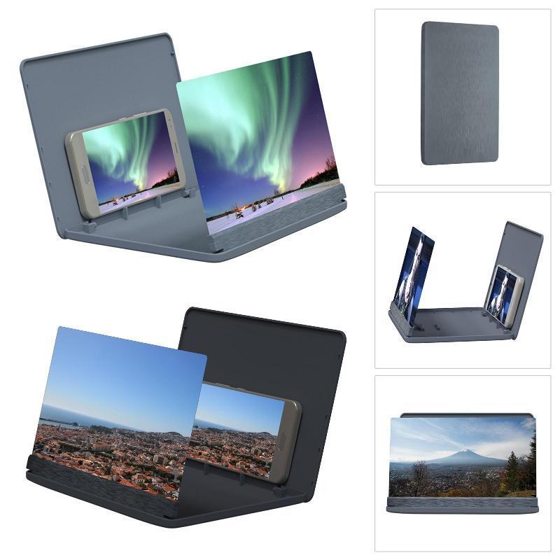 Suporte de magnifier da tela do telefone de alta definição de polegada para montagens de células ajustáveis da conferência do registro do registro