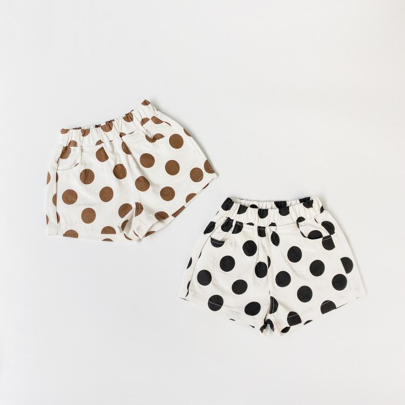LC Newest INS Summer Autumn Kids shorts Cotton Polka Dot Bloomers Fashions Korean Quality Children Pants