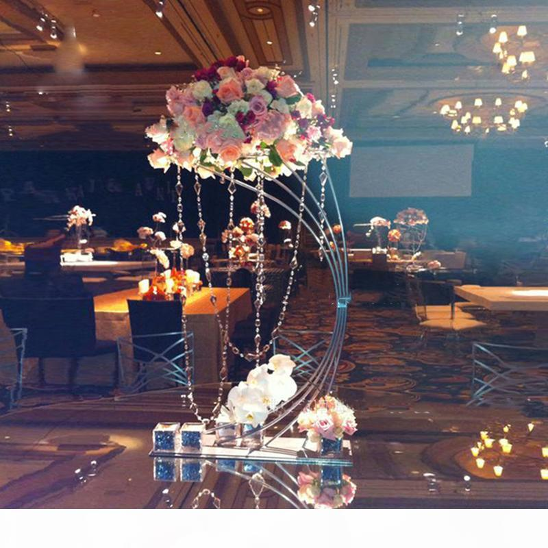 "Gold Flower Stand 82CM 32.3"" Tall Metal Road Lead Wedding Centerpiece Flowers Rack For Event Party Home Decoration"