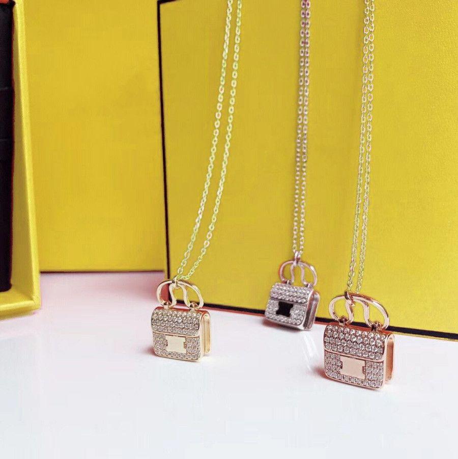 Moda Kolye Kolye Kadın Kolye Takı Çantası Taş Kolye Hediye Paketleme Ile Kaliteli 3 Renk