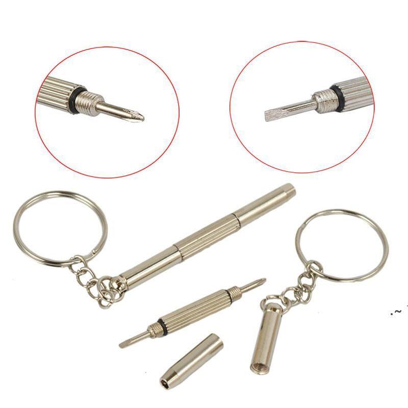 Portachiavi a vite chiave portachiavi anello occhiali cacciavite occhio glass in vetro cacciavite ecigs vapore orologio riparazione portatile fai da te strumento a mano owb6039