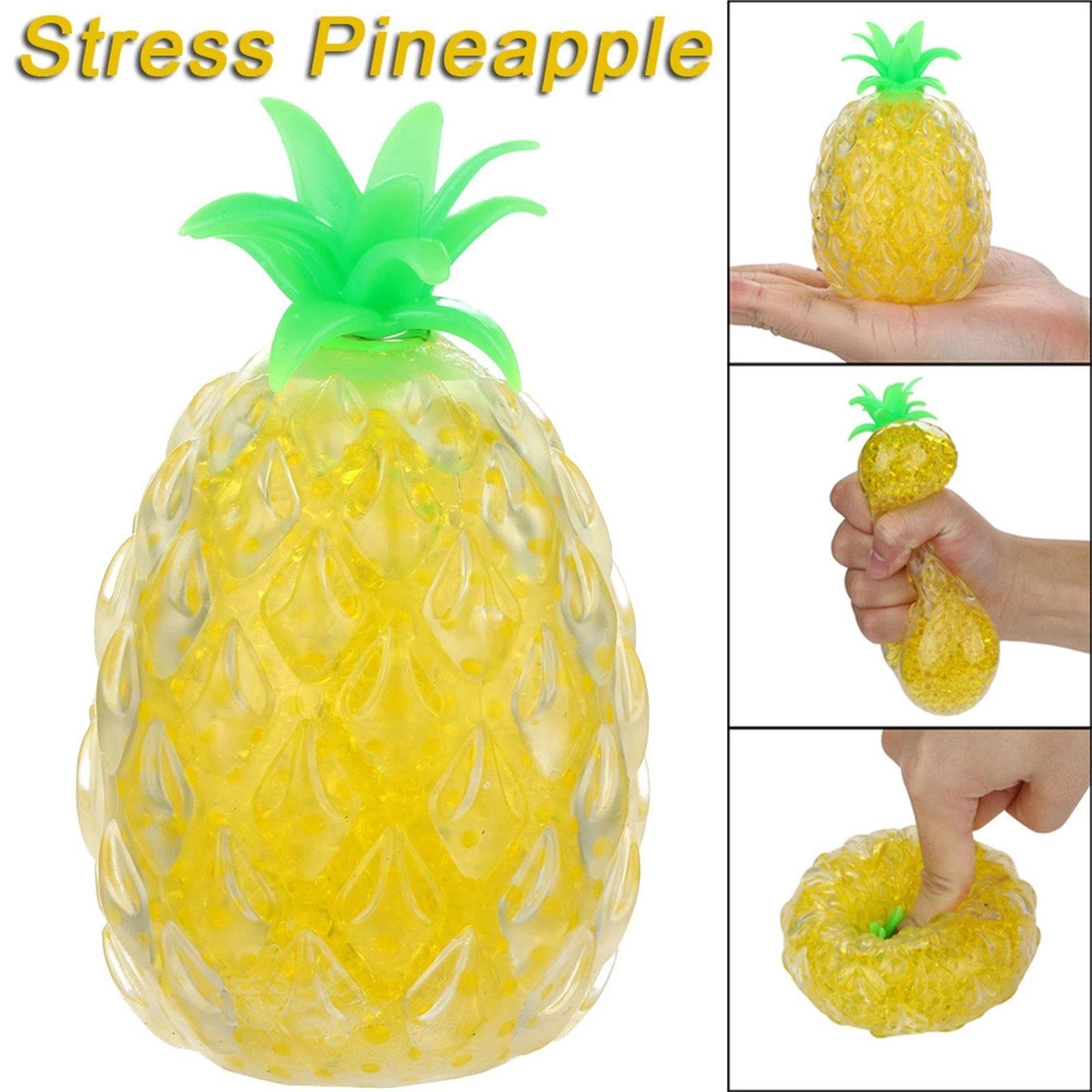 Fitget Toys Creative Piña de descompresión de la piña, adultos divertidos niños anti-ansiedad Alivio de estrés Squeeze Squishy T