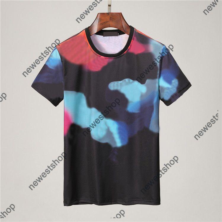 2021 Diseñadores de verano T Shirts Ropa para hombre Tshirt Tshirt Impresión de graffiti T-shirt Casual Camiseta de lujo de lujo de la letra de la letra de las camisetas de la tee