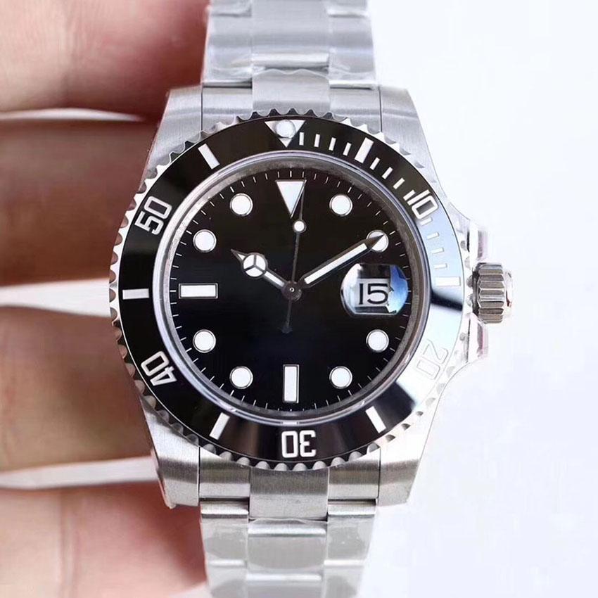 U1 Factory ST9 часы керамический безель черный сапфир дата набор 41 мм автоматическая механическая механическая нержавеющая сталь мужская мужчины 116610 126610LN наручные часы